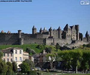 puzzel Versterkte stad van Carcassonne, Frankrijk