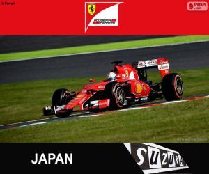puzzel Vettel G. P. Japan 2015