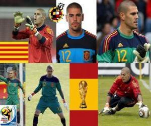 puzzel Víctor Valdes (De panter Hospitalet) Spaanse team keeper of doelman