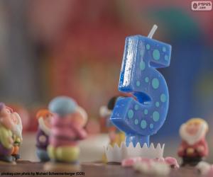 puzzel Vijfde verjaardag