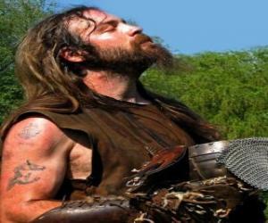 puzzel Viking gezicht met snor en baard