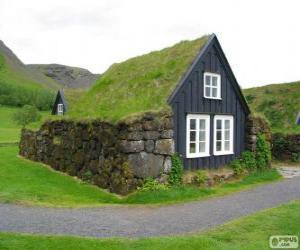 puzzel Viking huis, IJsland