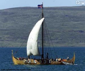 puzzel Viking zeilschip