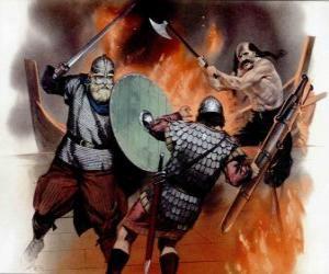 puzzel Vikingen strijd