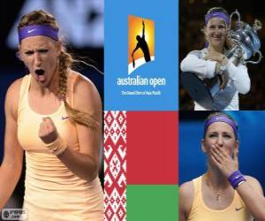 puzzel Viktoria Azarenka kampioen Open Australië 2013