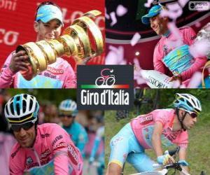 puzzel Vincenzo Nibali, kampioen van de Giro van Italië 2013