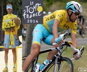 puzzel Vincenzo Nibali, kampioen van de Tour de France 2014