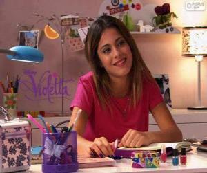 puzzel Violetta aan zijn tafel
