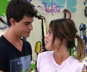 puzzel Violetta en Diego