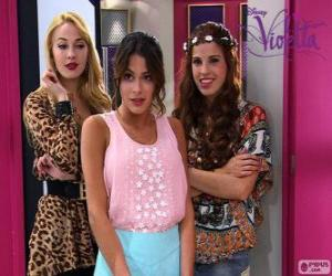 puzzel Violetta met Ludmila en Camila