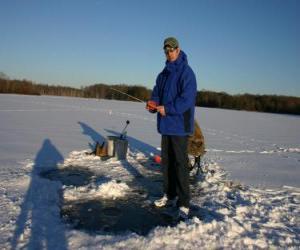 puzzel Vissen op het ijs