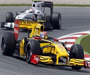 puzzel Vitaly Petrov - Renault - Barcelona 2010
