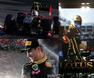 puzzel Vitaly Petrov - Renault - Melbourne, Australië Grand Prix (2011) (3e plaats)