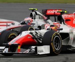 puzzel Vitantonio Liuzzi - HRT - Silverstone 2011