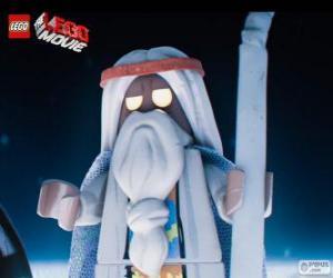 puzzel Vitruvius, de oude tovenaar van de film, het grote avontuur van Lego