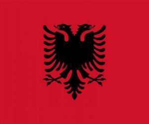 puzzel Vlag van Albanië