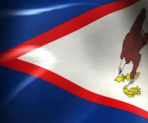 puzzel Vlag van Amerikaans-Samoa