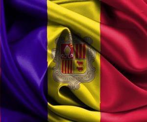 puzzel Vlag van Andorra