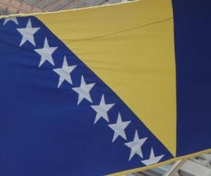 puzzel Vlag van Bosnië en Herzegovina