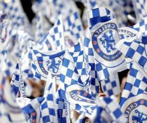 puzzel Vlag van Chelsea FC