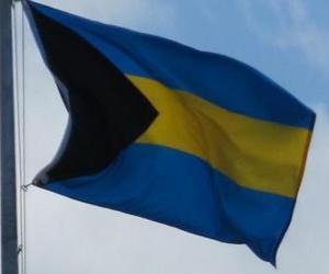 puzzel Vlag van de Bahama 's