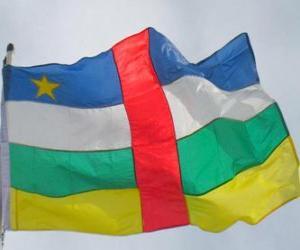 puzzel Vlag van de Centraal-Afrikaanse Republiek