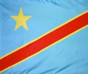 puzzel Vlag van de Democratische Republiek Congo
