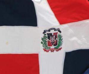 puzzel Vlag van de Dominicaanse Republiek