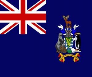 puzzel Vlag van de eilanden van de Zuid-Georgië en zuidelijke Sandwich