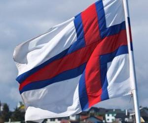 puzzel Vlag van de Faeröer