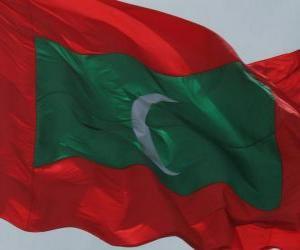 puzzel Vlag van de Maldiven