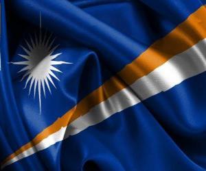 puzzel Vlag van de Marshalleilanden