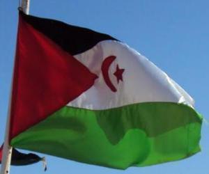 puzzel Vlag van de Westelijke Sahara