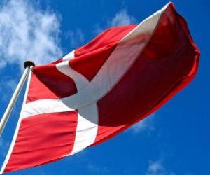 puzzel Vlag van Denemarken