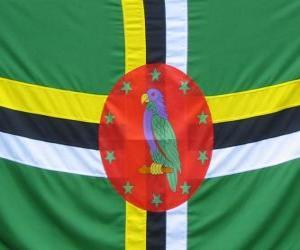 puzzel Vlag van Dominica