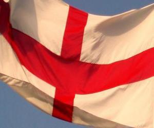 puzzel Vlag van Engeland, het land een deel van het Verenigd Koninkrijk