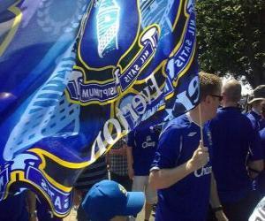 puzzel Vlag van Everton FC