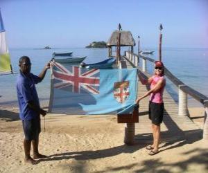 puzzel Vlag van Fiji of Fiji-eilanden