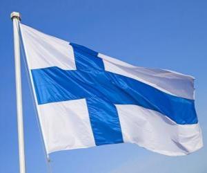 puzzel Vlag van Finland