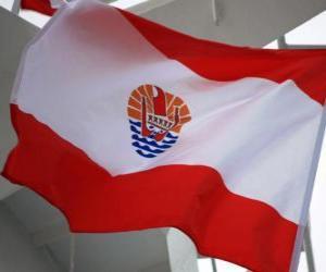 puzzel Vlag van Frans-Polynesië
