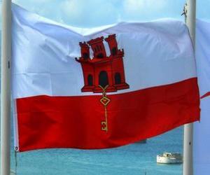 puzzel Vlag van Gibraltar