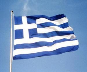 puzzel Vlag van Griekenland