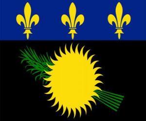 puzzel Vlag van Guadeloupe