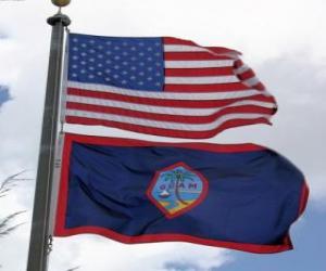 puzzel Vlag van Guam