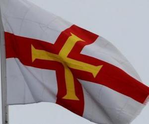puzzel Vlag van Guernsey