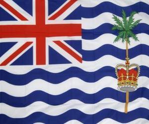puzzel Vlag van het Brits Indische Oceaanterritorium