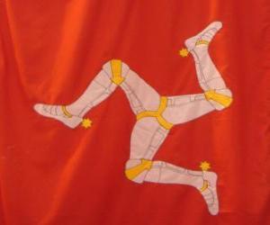 puzzel Vlag van het eiland Man