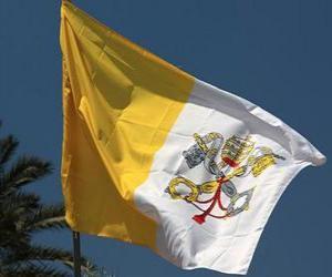 puzzel Vlag van het Vaticaan