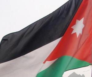 puzzel Vlag van Jordanië