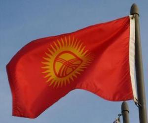 puzzel Vlag van Kirgizië